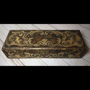 Antique Flemish glove Box